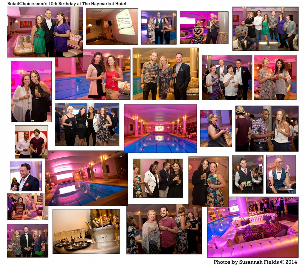 Event Photography for Retail Choices' 10th Birthday Party at The Haymarket Hotel b