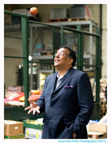 Iqbal Wahhab portrait of Restaurateur at Borough Market