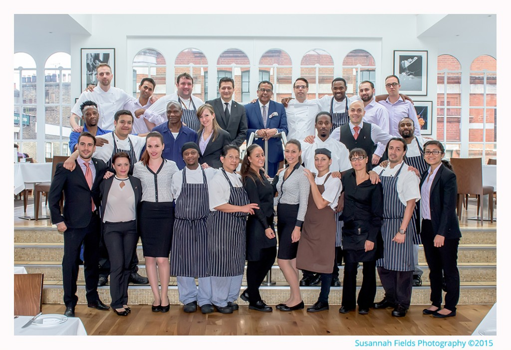 Team Photo to Celebrate 10 Years at Roast Restaurant