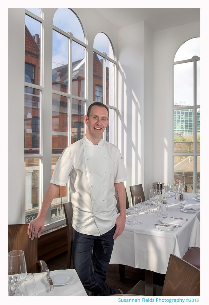 Photos of Stuart Cauldwell, Head Chef at Roast Restaurant