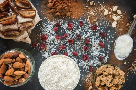 Deliciously Ella Coconut Power Balls food photography by Susannah Fields