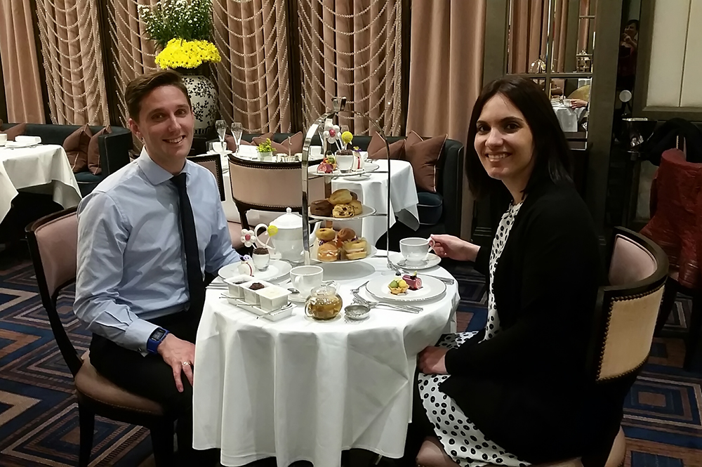 Staff sampling Afternoon Tea at The Wellesley