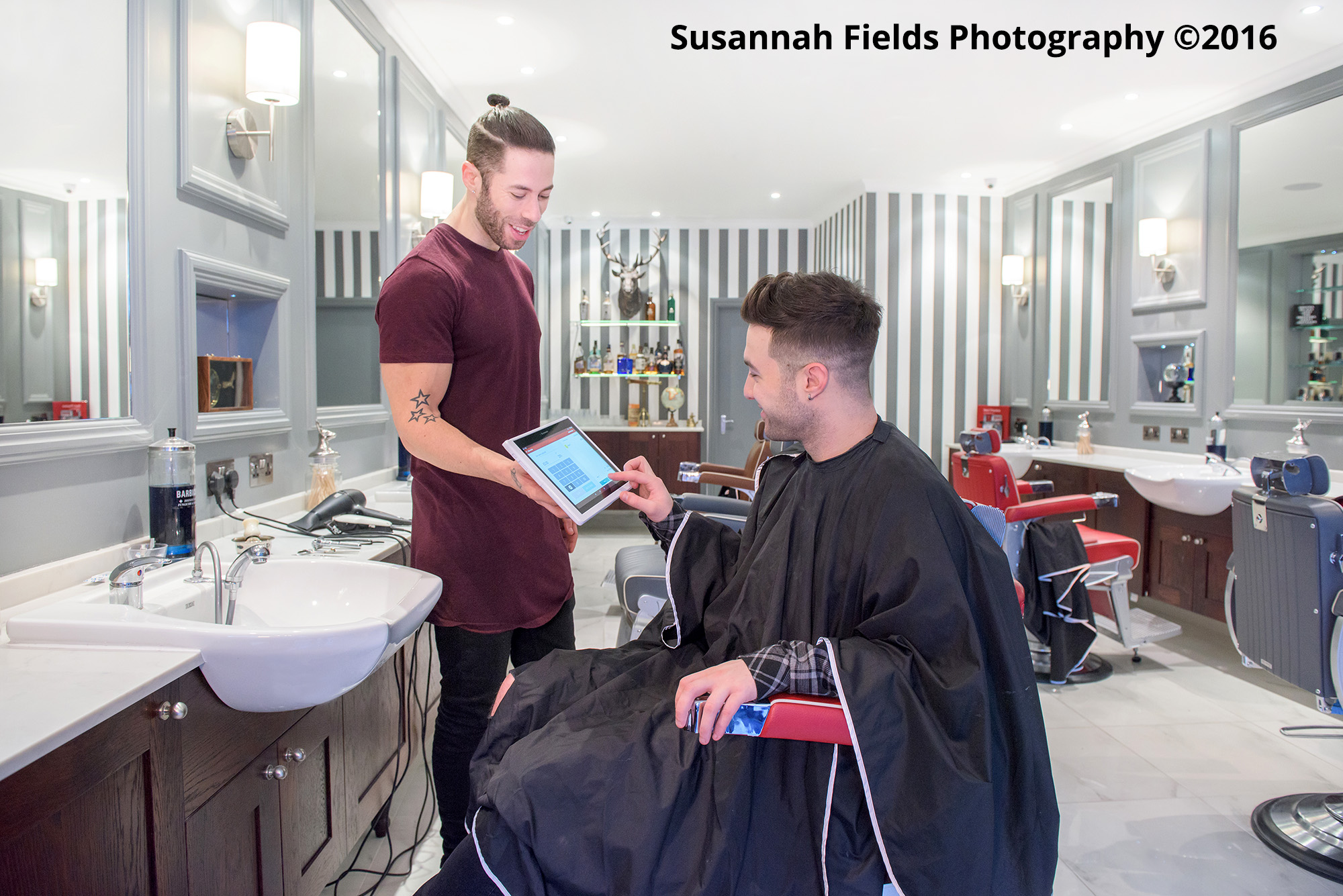 My Business Hub Commercial Photography for Worldpay with Ed Webster at The Stag Gentlemans Grooming Salon, Mill Hill