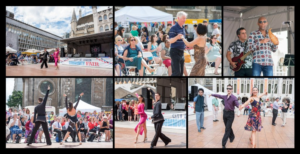 Photos of Dancing at The City of London Community Fair - Public Service at Guild Hall Yard