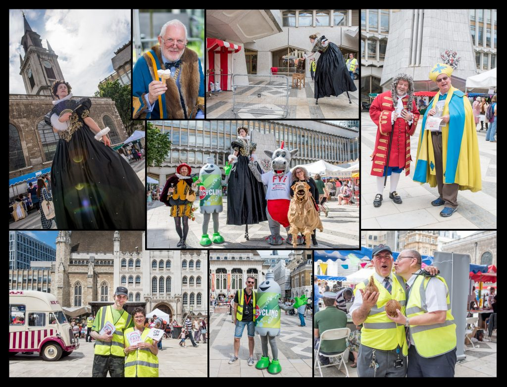 Photos of staff at The City of London Community Fair - Public Service at Guild Hall Yard