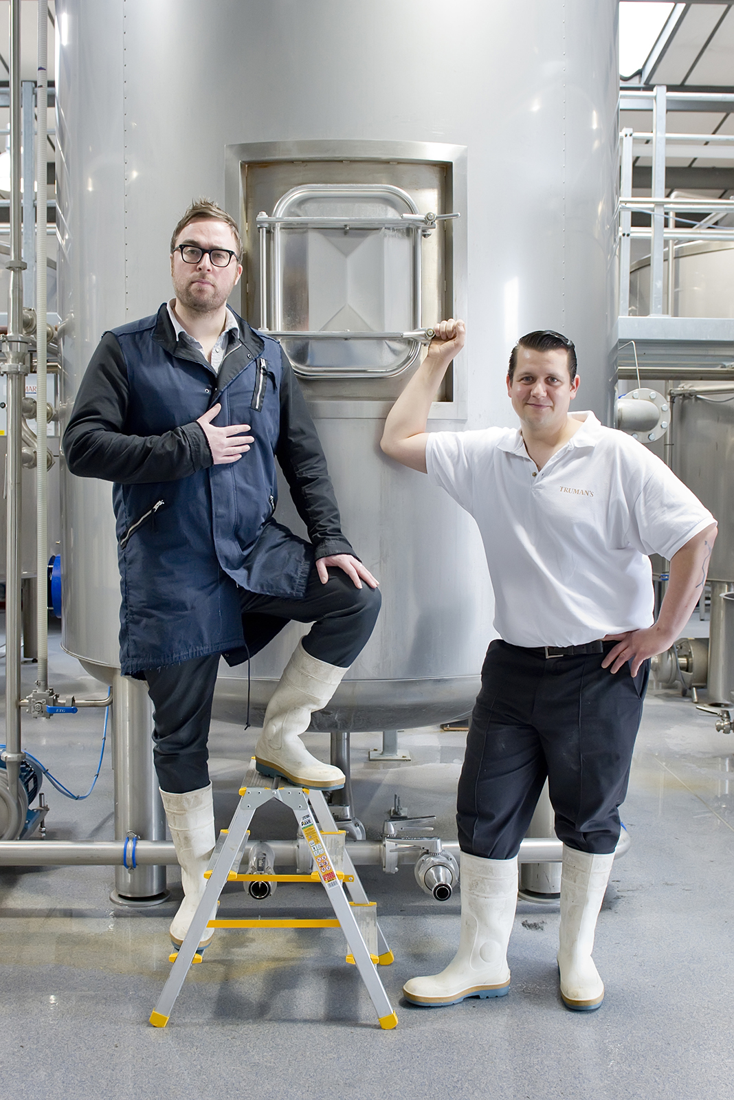 PR photography shoot with Danny Wallace for Nicholson's Pubs