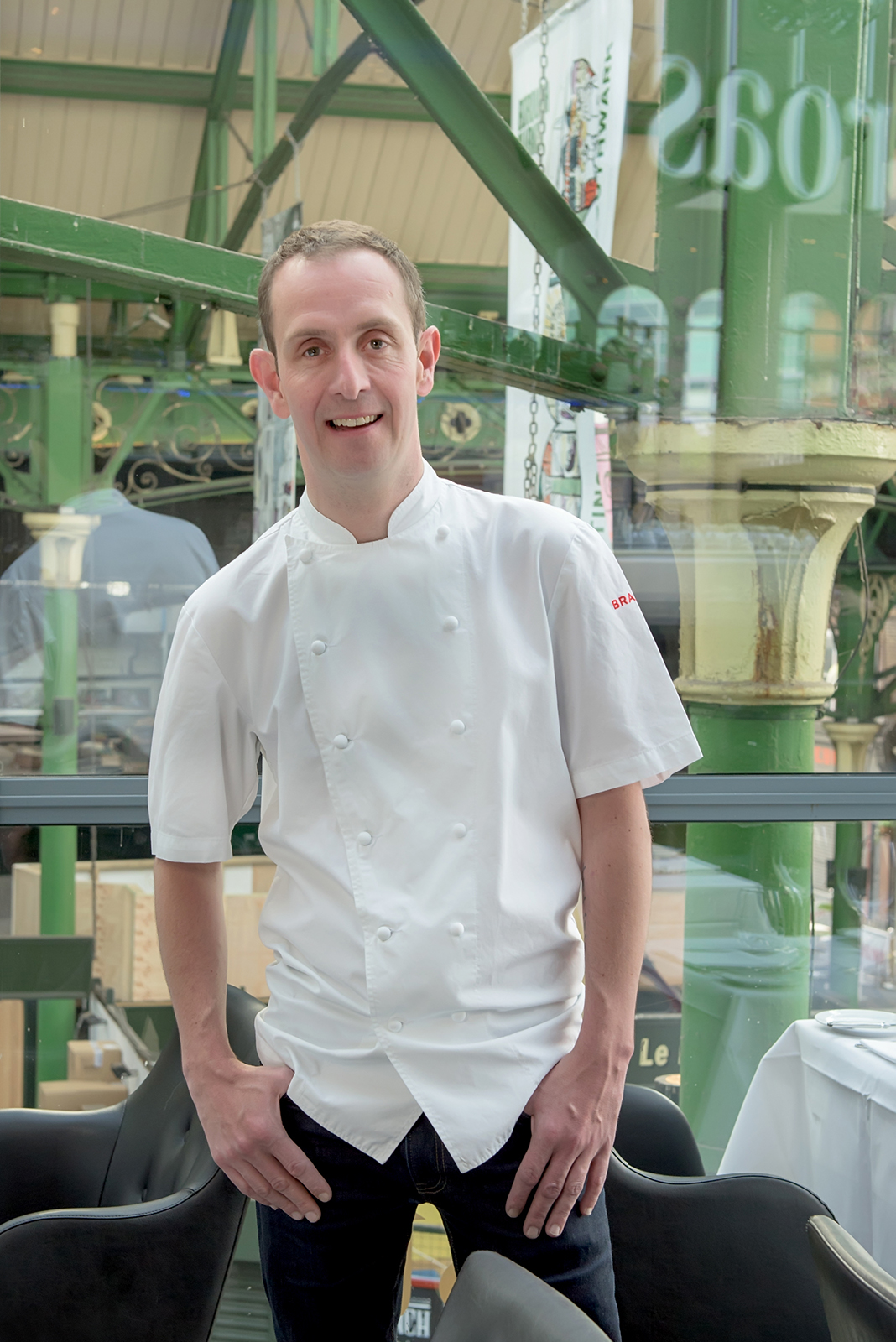 Portrait of Stuart Cauldwell Head Chef at Roast Restaurant Borough Market