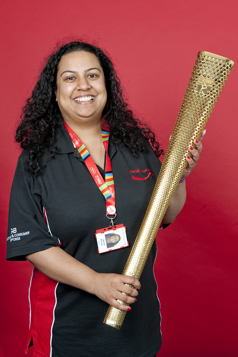 Coca-Cola Enterprises Olympic Torch Relay Staff Photobooth