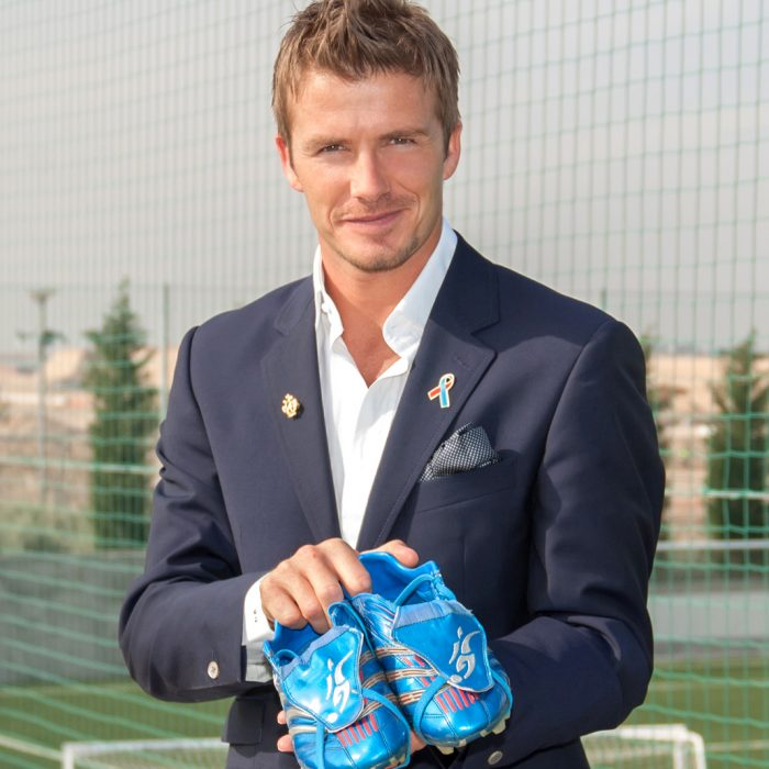 David Beckham BBC Blue Peter Shoe Appeal for Unicef UK
