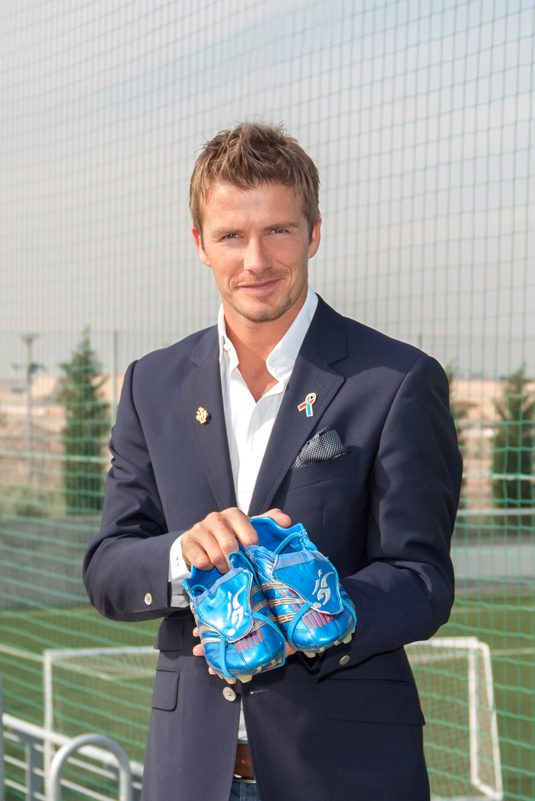 David Beckham BBC Blue Peter Shoe Appeal Charity Photography for Unicef UK