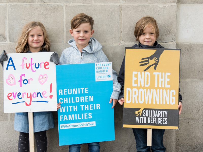 Unicef UK Photography Refugees Welcome March