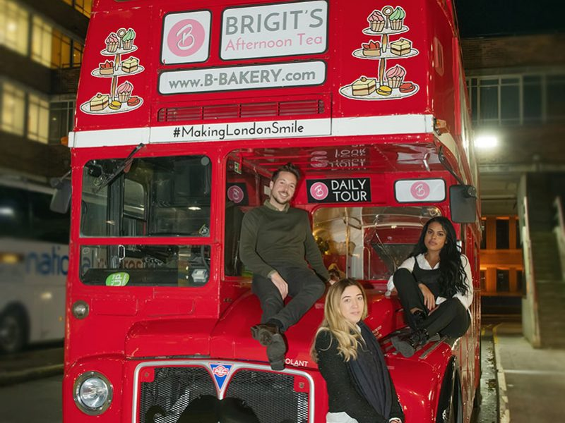 PR and Influencer Event Photography of Brigit's Bakery Afternoon Tea Christmas Bus Tour
