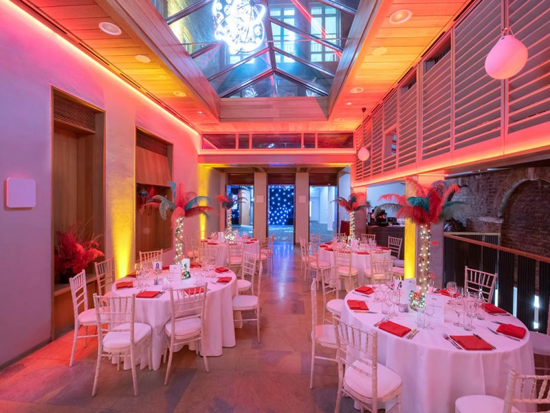 Glittering Christmas Venue Photography at No.11 Cavendish Square